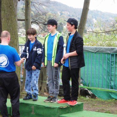 Jonas, Matteo, Philipp belgen Platz 1 im C Mannschaftswertung